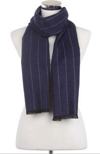 Heren sjaal Blue Stripes Blauw grijs gestreept