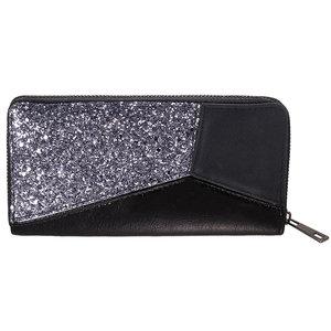 Scarfz portemonnee wallet glitter accent zwart zilver feestdagen