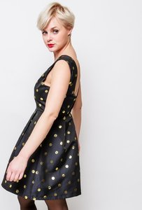 Scarfz little black dress feestjurk zwart goud