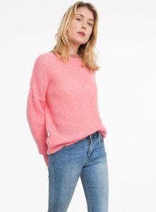 Scarfz mooie gebreide dames trui roze Ange Paris Latessa roze