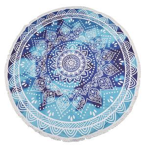 Scarfz Ibiza round towel roundie strandlaken mandala blauw