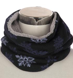 Scarfz kindersjaal warme col sjaal met voering Snowflake 2