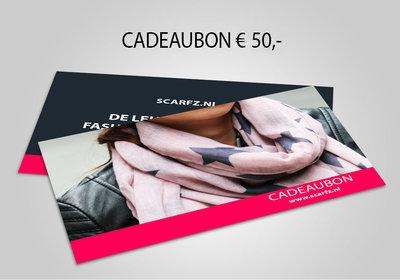 Scarfz webshop cadeaubon 50 euro gift card