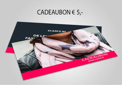 Scarfz webshop cadeaubon 5 euro gift card