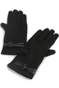 Scarfz dames handschoenen cross buckle zwart