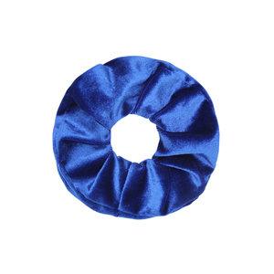 Scarfz scrunchie velvet sweet velvet haarelastiek hair tie blauw blue