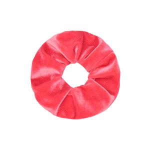 Scarfz scrunchie velvet sweet velvet haarelastiek hair tie koraal roze coral