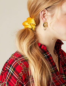 Scrunchie Sweet Velvet|Haarelastiek|Haarwokkel|Geel