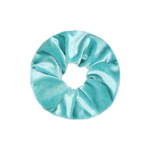 Scrunchie Color Power blauw Haarelastiek Haarwokkel Aqua turquiose
