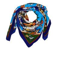 Dames sjaal zijde zacht kleurrijk