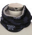 Warme kindersjaal Snowflake|Blauwe col sjaal kinderen|Gevoerde sjaal|Sneeuwvlokken print